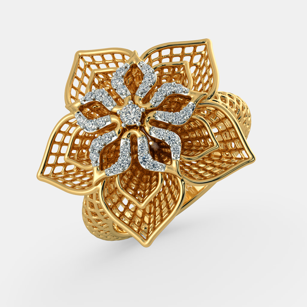 The Daffodil Lattice Ring Bluestone Com