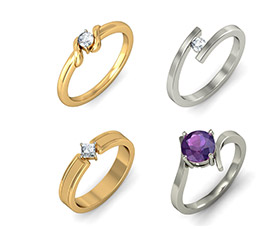 Single Stone Rings