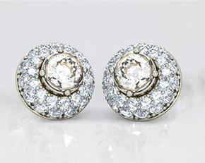 Preset Solitaire earrings