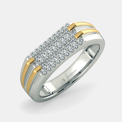 Buy 50 White Gold Wedding Ring Designs Online in India 2018 BlueStone
