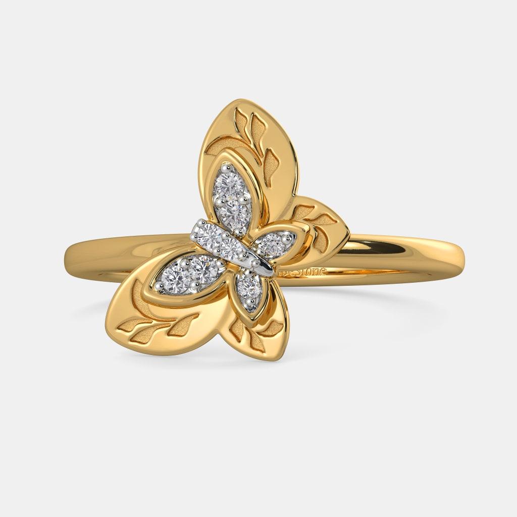 The Regina Butterfly Ring | BlueStone.com