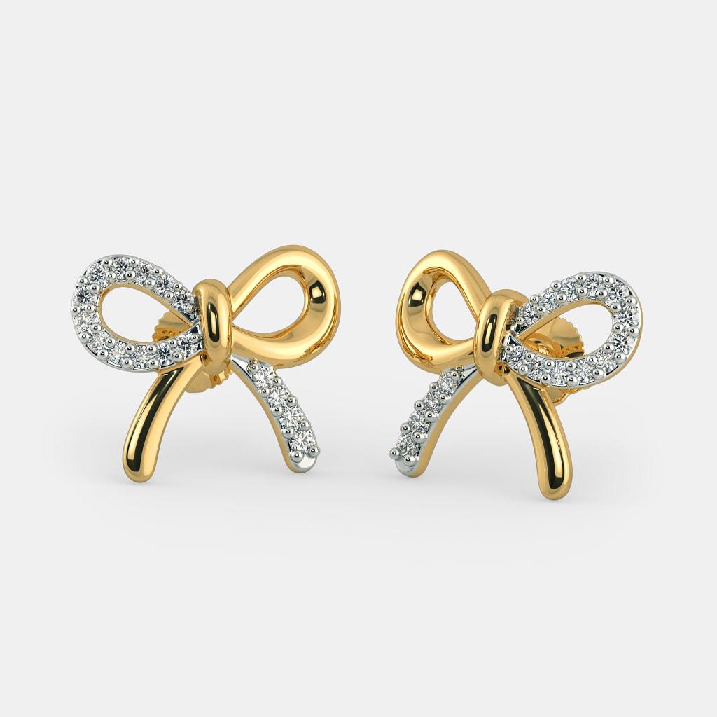 Silver Earrings With Blue Stones Earrings Collection Source · The Nicola  Stud Earrings