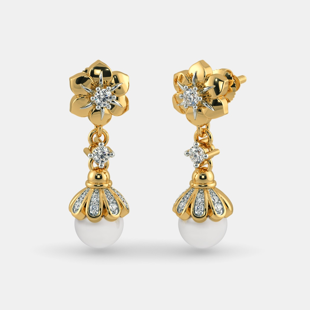 earrings erum drops jhumka drop raj zev jewels paisley diamond