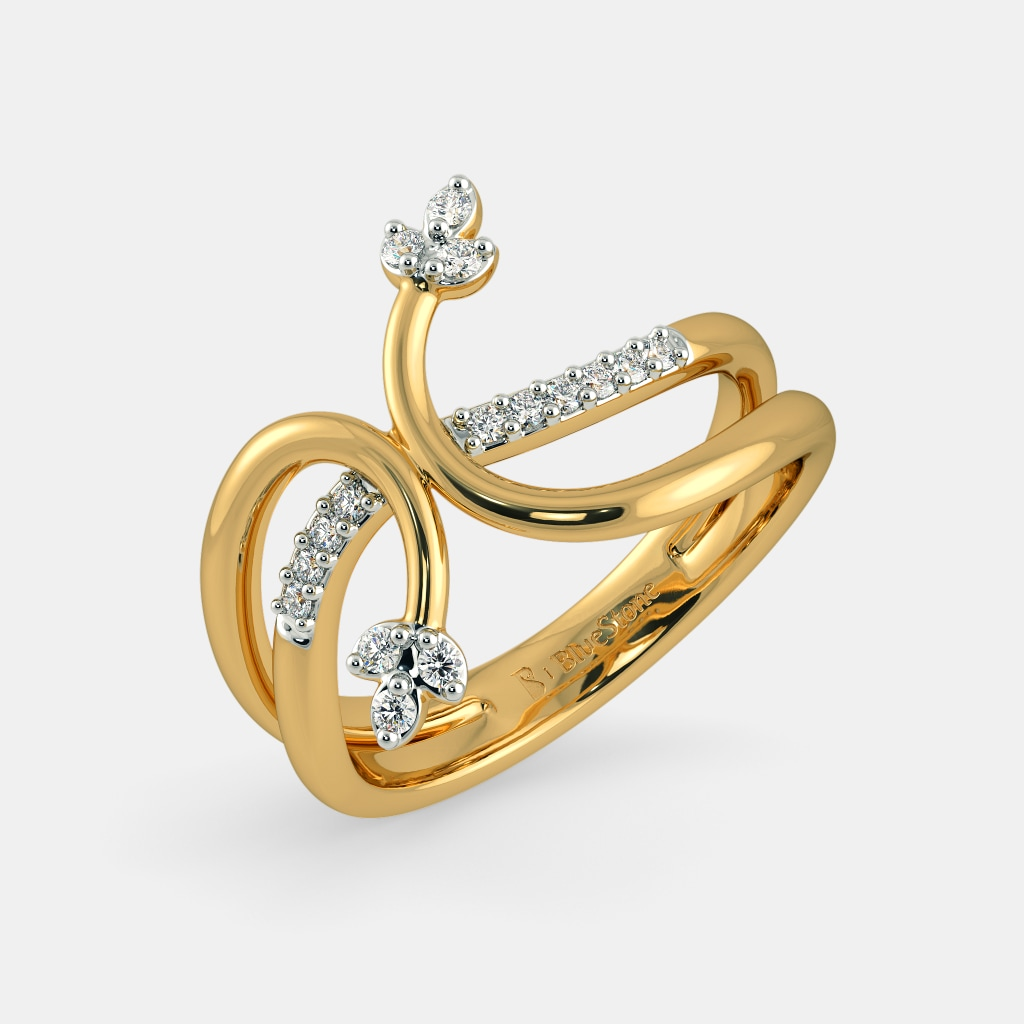 Bluestone Only Gold Rings