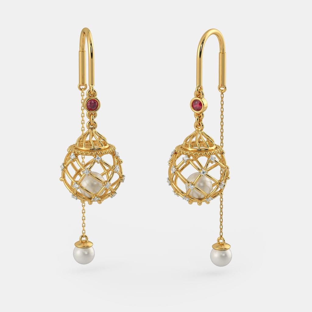 The Siena Sui Dhaga Earrings Bluestone