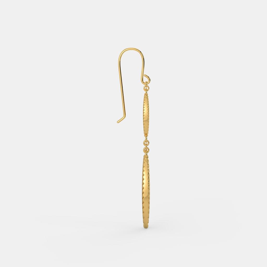 The Gold Leaf Drop Earrings