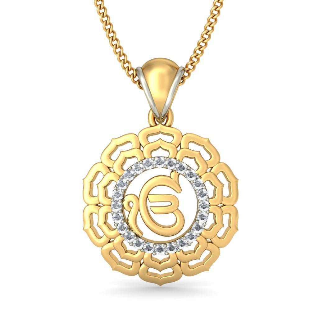 The divine ek onkar pendant bluestone the divine ek onkar pendantneck image aloadofball Choice Image