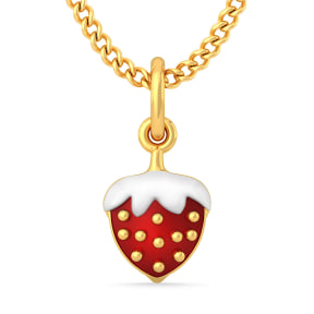 The Strawberry Love Pendant For Kids