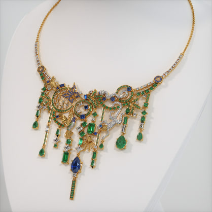 The Rainforest statement necklace