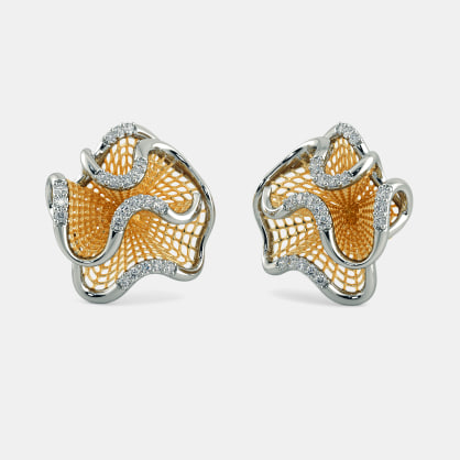The Waves Lattice Earrings