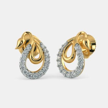 The Kairavi Paisley Stud Earrings
