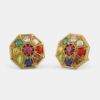 The Nav Kavach Earrings