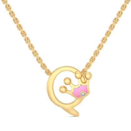 Q for Queen Necklace for Kids