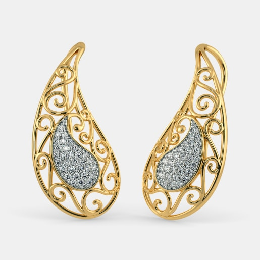 The Darpali Paisley Drop Earrings