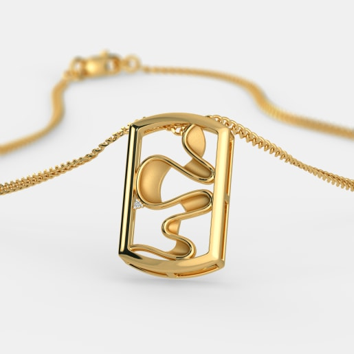 Diamond Pendant In Yellow Gold (4.09 Gram) With Diamonds (0.010 Ct)