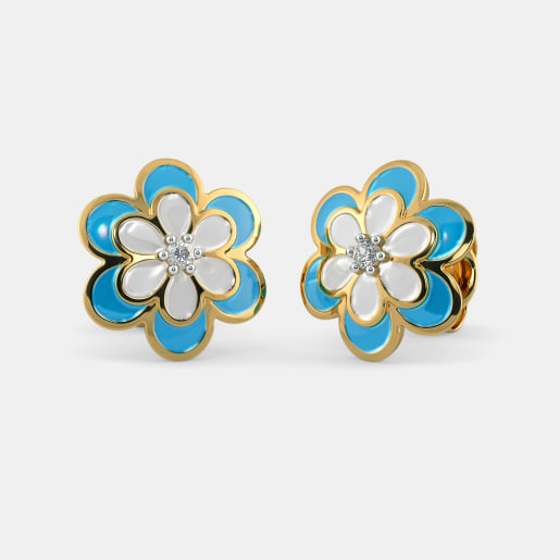 The Blue Petal Earrings for Kids