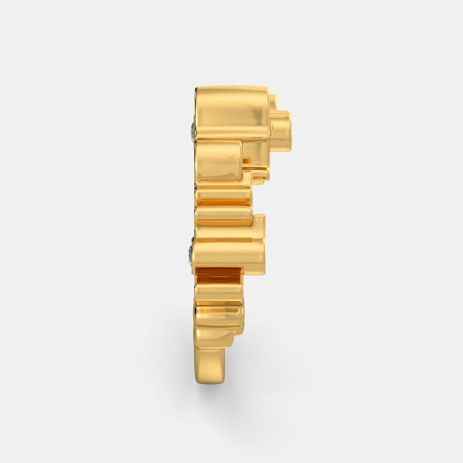 Diamond Ring In Yellow Gold (6.45 Gram) With Diamonds (0.036 Ct)