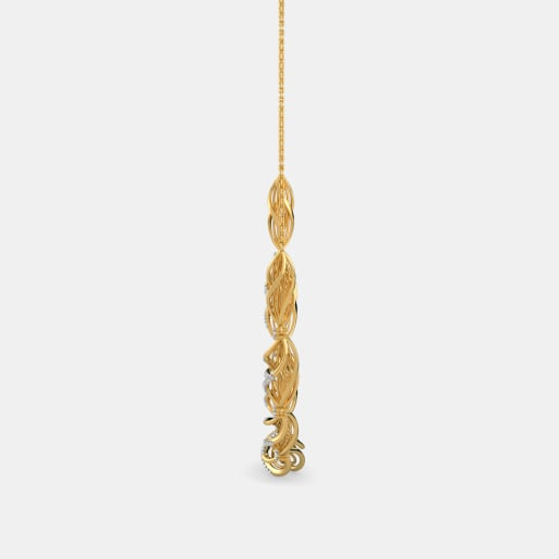 Diamond Necklace In Yellow Gold (14.7 Gram)