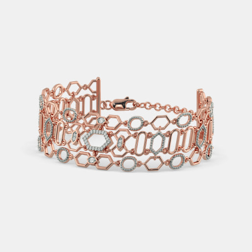 Diamond Bracelet In Rose Gold (18.19 Gram)