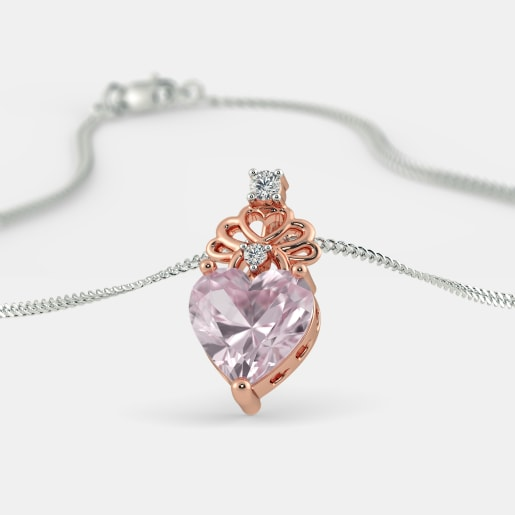 The Fiorella Rose Quartz Pendant