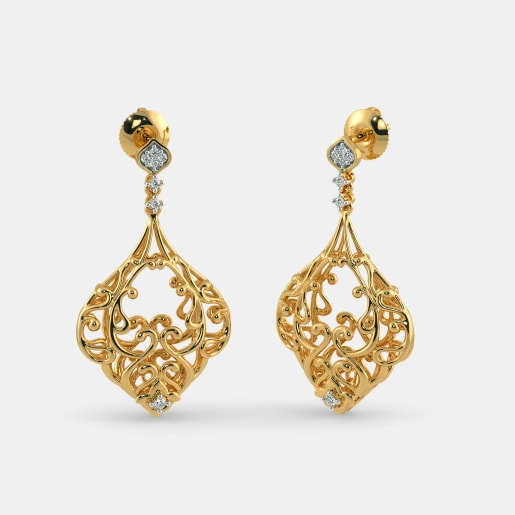 earrings designs india online wired precious jewellery enamel gold in earring beautiful