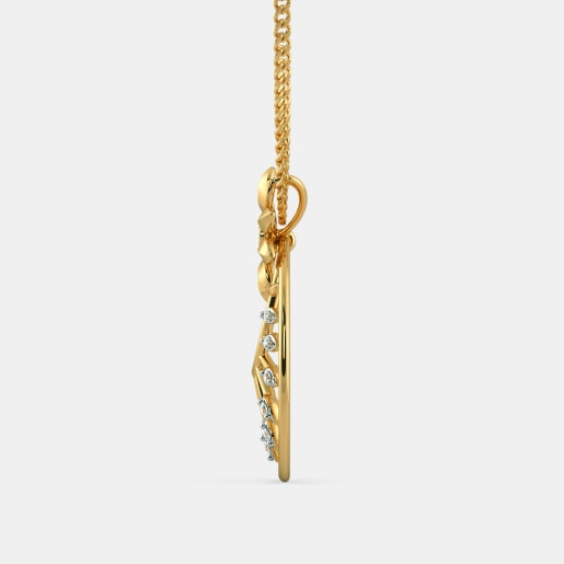Diamond Pendant In Yellow Gold (3.7 Gram) With Diamonds (0.200 Ct)