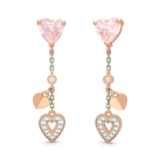 The Angela Rose Quartz Earrings
