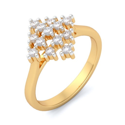 Diamond Ring In Yellow Gold (2.64 Gram) With Diamonds (0.321 Ct)