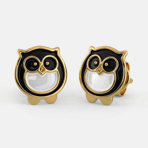 The Night Owl Earrings For Kids