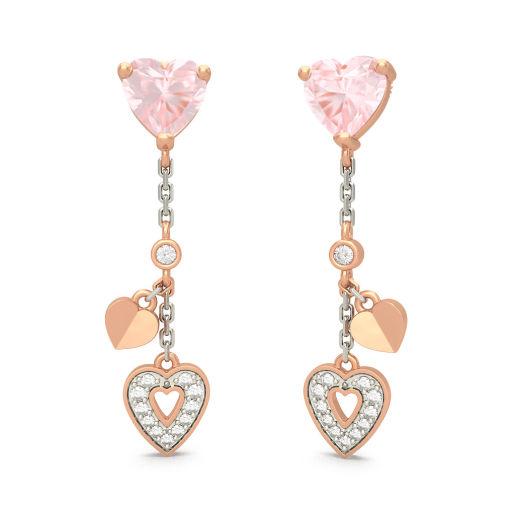 The Angela Rose Quartz Earrings