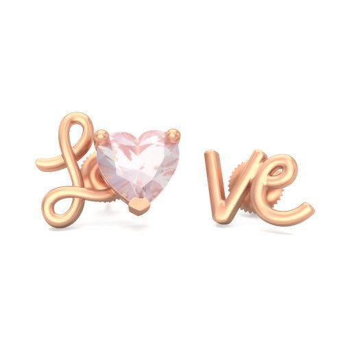 The Amor Rose Quartz Mismatch Earrings