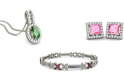 White Gold Gemstone Jewellery
